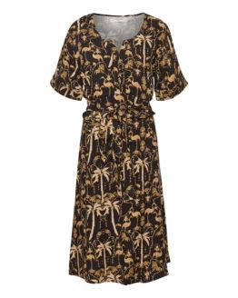 cream palm dress